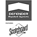 Defender Repellent Systems® treatment featuring Scotchgard® Protector by 3M